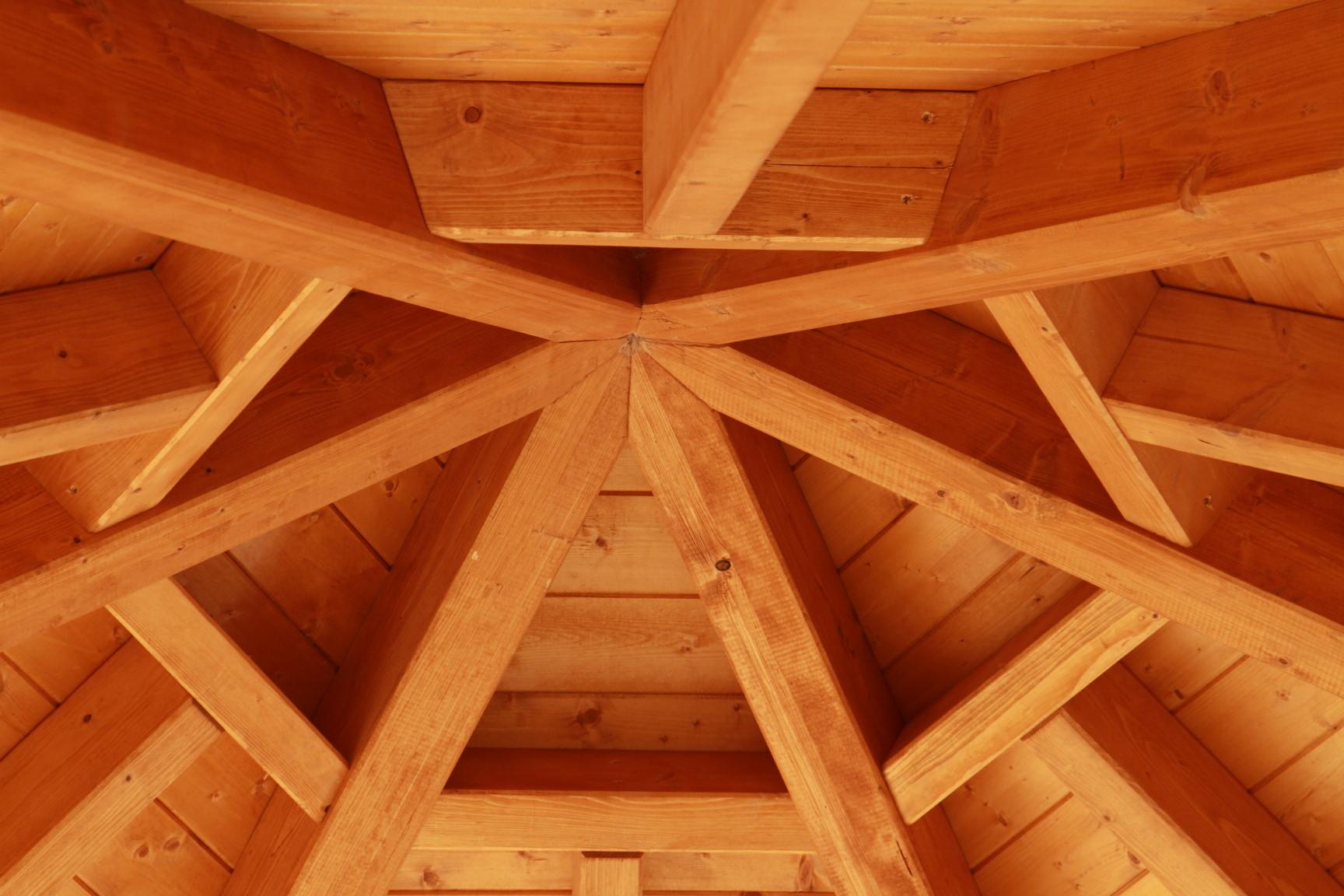 Grillhütte Dach